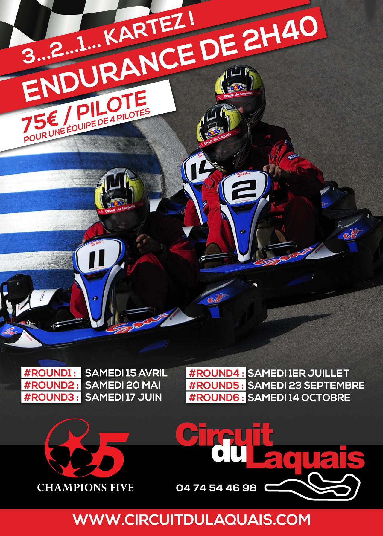 endurance karting champions 5 karting du laquais circuit du laquais. Black Bedroom Furniture Sets. Home Design Ideas